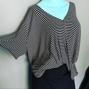 bp Tops - BP Ultra Soft Black and White Striped Shirt M L